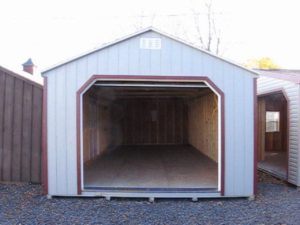 Wooden Garage Shed